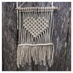 Loves Me Knot Macramé Wall Hanging by SunshineDreamingAUS on Etsy Macrame Art, Macrame Design, Macrame Projects, Micro Macrame, Macrame Curtain, Macrame Tutorial, Macrame Patterns, Hobbies And Crafts, Weaving