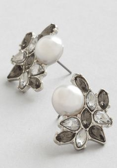 Photo Opulence Earrings in Silver, #ModCloth. For the Ink dress.