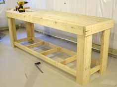 Thinking of building your own workbench but aren't quite certain where to start? Then, you're in right place. In this post, we've compiled 11 DIY workbench ideas that you can use in your comport yourself area, in your garage, or in your house office. Woodworking Bench Plans, Workbench Plans, Wood Plans, Woodworking Projects, Garage Workbench, Teds Woodworking, Workbench Stool, Garage Atelier, Workbench Designs