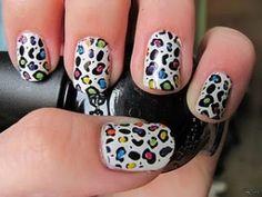 Rainbow leopard nails. please & thank you