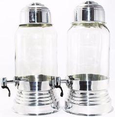 Kit Com 2 Suqueira De Vidro Com Dispenser Aluminio 3 Litros - R$ 69,99 no MercadoLivre