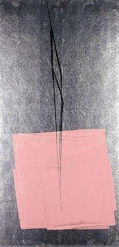 Toko Shinoda 篠田 桃紅, Kokoro (heart), ink and wash painting