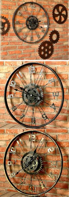 Bicycle Wheel Gear Wall Clock