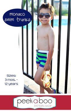 Monaco Swim Trunks PDF Sewing Pattern
