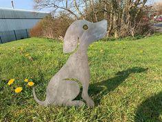 Rusty Dog Sitting Metal Garden Art Metal Garden Art, Metal Birds, Animal Silhouette, Some Fun, Potted Plants, Gates, Art Decor, Garden Sculpture, Outdoor Decor