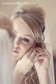 Morning of Wedding. Bride Getting Ready. great bride getting ready portrait