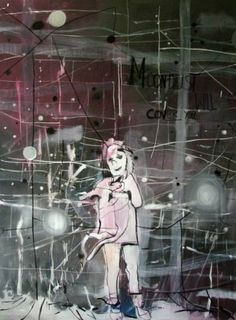 Buy Moondust will cover You, a Mixed Media on Canvas by Mikołaj Obrycki from Poland. It portrays: People, relevant to: people, space, cat, animal, dust, girl, magic, moon, night Moondust will cover You