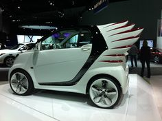 Checking out the Smart Car with wings 2012 LA Auto Show