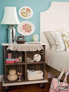 Refurb and repurpose found items scooped up at garage sales, flea markets, and vintage shops with our DIY decorating ideas. We'll show you how to decorate with doilies, plates, yardsticks, scarves, crates, and more. #repurposed #repurposedfurniture #diy