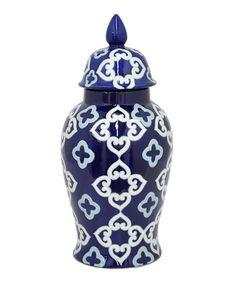 Loving this Quatrefoil Porcelain Temple Jar on #zulily! #zulilyfinds