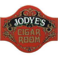 Cigar Room Sign