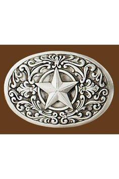 Star /& American Flag Belt Buckle Western Cowboy Cowgirl Motorcyclist FLST-01