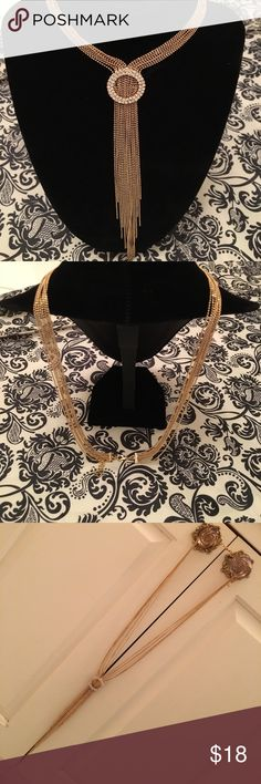 """Stranded necklace with crystals Thin ball chain stranded necklace with crystal embellishment. From clasp to crystals the length is 11.5"""", but can be adjusted for a longer drop. Jewelry Necklaces"""