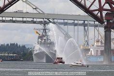 USS Dewey, Portland Fireboat, Willamette River 2012