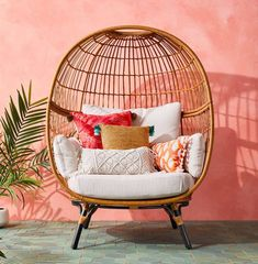 target patio egg chair Wicker Patio Chairs, Outdoor Chairs, Adirondack Chairs, Chair Cushions, Outdoor Furniture, Upholstered Chairs, Rattan Egg Chair, Swivel Chair, Eames Chairs