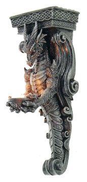 Decorative Dragon Corbel with a Celtic Knot Design