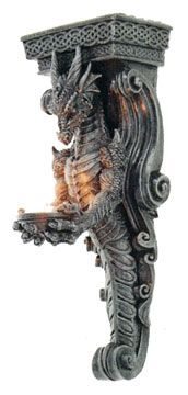 Decorative Dragon Corbel with a Celtic Knot Design