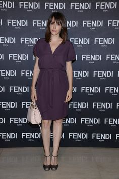 Anita Caprioli at the inauguration of the new #Fendi boutique in Milan