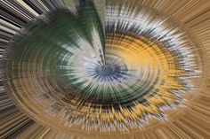 Genesis (Sept 16) Suzanne L Kish Abstract art created from an image of  a platter of vegetables at a wedding.