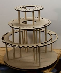 Rotating Tool Stand Organizer Lazy Susan (Tools are shown for display only, this listing is for the rotating tool shelf only. Easy Woodworking Projects, Woodworking Tools, Wood Projects, Woodworking Furniture, Furniture Plans, Youtube Woodworking, Popular Woodworking, Welding Projects, Workshop Storage