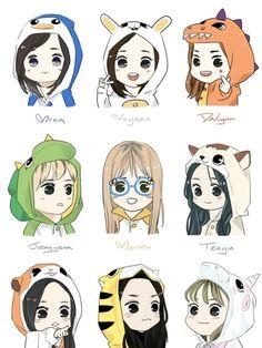 › Twice [chibi] ‹ Nayeon, Kpop Girl Groups, Korean Girl Groups, Kpop Girls, Kpop Anime, Anime Guys, Kpop Drawings, Cute Drawings, Warner Music