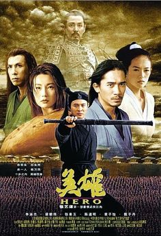 Hero is a 2002 wuxia film directed by Zhang Yimou. Starring Jet Li as the nameless protagonist, the film is based on the story of Jing Ke's assassination attempt on the King of Qin in 227 BC.Hero was first released in China on 24 October Maggie Cheung, Zhang Ziyi, Kung Fu Martial Arts, Martial Arts Movies, Jackie Chan, Hero 2002 Film, Hero Movie, Movie Tv, Movie Posters
