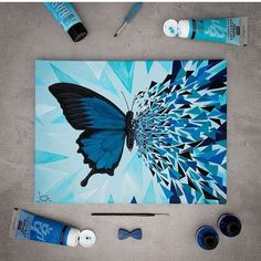 30 ideas canvas art painting abstract colour for 2019 Cute Canvas Paintings, Small Canvas Art, Easy Canvas Painting, Diy Canvas Art, Painting & Drawing, Painting Tools, Butterfly Painting, Butterfly Art, Painting Flowers