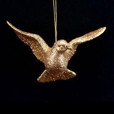 Gold Glitter Dove
