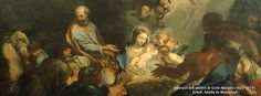 Adoració dels pastors de Carlo Maratta (1625-1713). Detall, Abadia de Montserrat