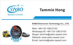 For Speed Limiter, pls contact tammie@sabo-speed.com Mob/Whatsapp: +86 133 1282 5153