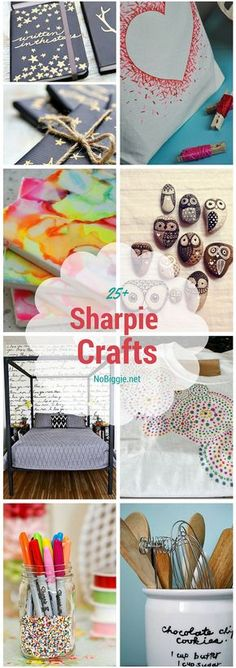 So much you can decorate with a SHARPIE.enjoy these Sharpie Craft ideas. Who knew that our beloved sharpie markers could be such a great go to craft supply for so many creative projects? Arts And Crafts For Teens, Art Projects For Teens, Easy Arts And Crafts, Crafts For Kids To Make, Arts And Crafts Projects, Diy Crafts To Sell, Art Crafts, Sharpie Projects, Sharpie Crafts