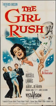 The Girl Rush vintage movie poster