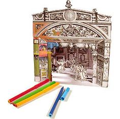 Free download to color and make your own toy theatre