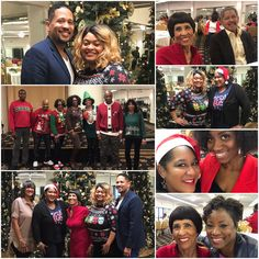 Christmas Party Time🎄Today Crenshaw Christian Center hosted a Company wide Christmas party in the Fellowship Center. In the second shot is the ugly sweater contest finalists. Melaina Williams won! It was a fun filled, festive time of Christmas fellowship and fun! Spreading Christmas Cheer to all! #CCC #EIFMinistries #Fellowship #Festive #Fun #ChristmasParty