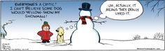 Yellow snowman?