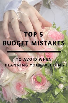 Wedding budget mistakes and how to avoid them