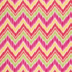 The G9154 Sunset upholstery fabric by KOVI Fabrics features Chevron, Contemporary, Ikat, Juvenile pattern and Orange, Pink, Red as its colors. It is a Cotton, Made in USA type of upholstery fabric and it is made of 100% Cotton material. It is rated Exceeds 15,000 double rubs (heavy duty) which makes this upholstery fabric ideal for residential, commercial and hospitality upholstery projects.For help please call 800-860-3105.
