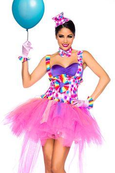 Candy-Kostüm Cupcake Fee-Kostüm Clown-Kostüm Damen Karneval Fasching Feenkostüm in Kleidung & Accessoires, Kostüme & Verkleidungen, Kostüme | eBay