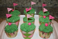 Golf Cupcakes   HANACAKES