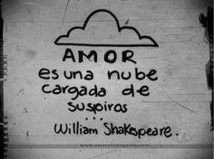 amor es una nube cargada de suspiros