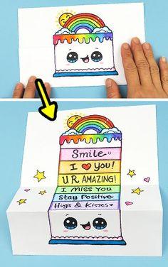 Happy Birthday Doodles, Happy Birthday Drawings, Happy Birthday Cards Handmade, Cute Happy Birthday, Birthday Gifts For Best Friend, Cute Food Drawings, Art Drawings For Kids, Cute Kawaii Drawings, Disney Drawings