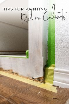 Want to makeover your kitchen on a small budget? Follow these tips for painting cabinets using FrogTape to save more and stress less on your home improvement. #sponsored