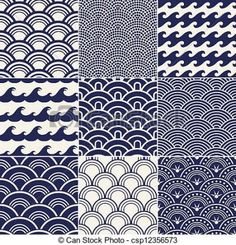 Vector - seamless ocean wave pattern