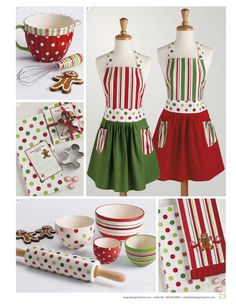 Christmas aprons! So cute! I am going to make these for Christmas!
