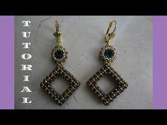 DIY - TUTORIAL Orecchini Victoria con rice beads, swarovski e rocailles - YouTube