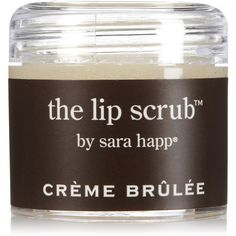 Sara Happ Creme Brulee Lip Scrub-1 ounces ($15) ❤ liked on Polyvore featuring beauty products, skincare, lip care, lip treatments, makeup, lip and sara happ