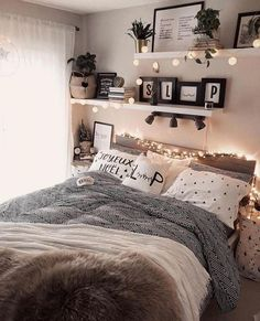 Home Decor Themes 43 cute and girly bedroom decorating tips for girl 39 - -.Home Decor Themes 43 cute and girly bedroom decorating tips for girl 39 - - Cute Bedroom Ideas, Modern Bedroom Decor, Cozy Bedroom, Master Bedroom, Contemporary Bedroom, Bedroom Inspiration, Design Bedroom, Master Suite, Ikea Bedroom