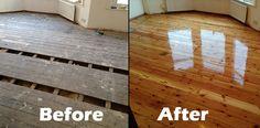 Brent Cross Pine Floor Repair - Gallery of Wood Flooring Projects - BSI Flooring