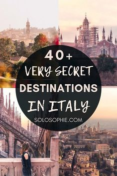 Secret Italy: Here are 40+ hidden and off the beaten path places to visit in Italy that you'll simply fall in love with on your next trip to Southern Europe! Unique locations in Italy you can't miss!