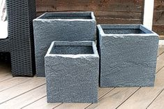 Stone-Effect Cube Planters